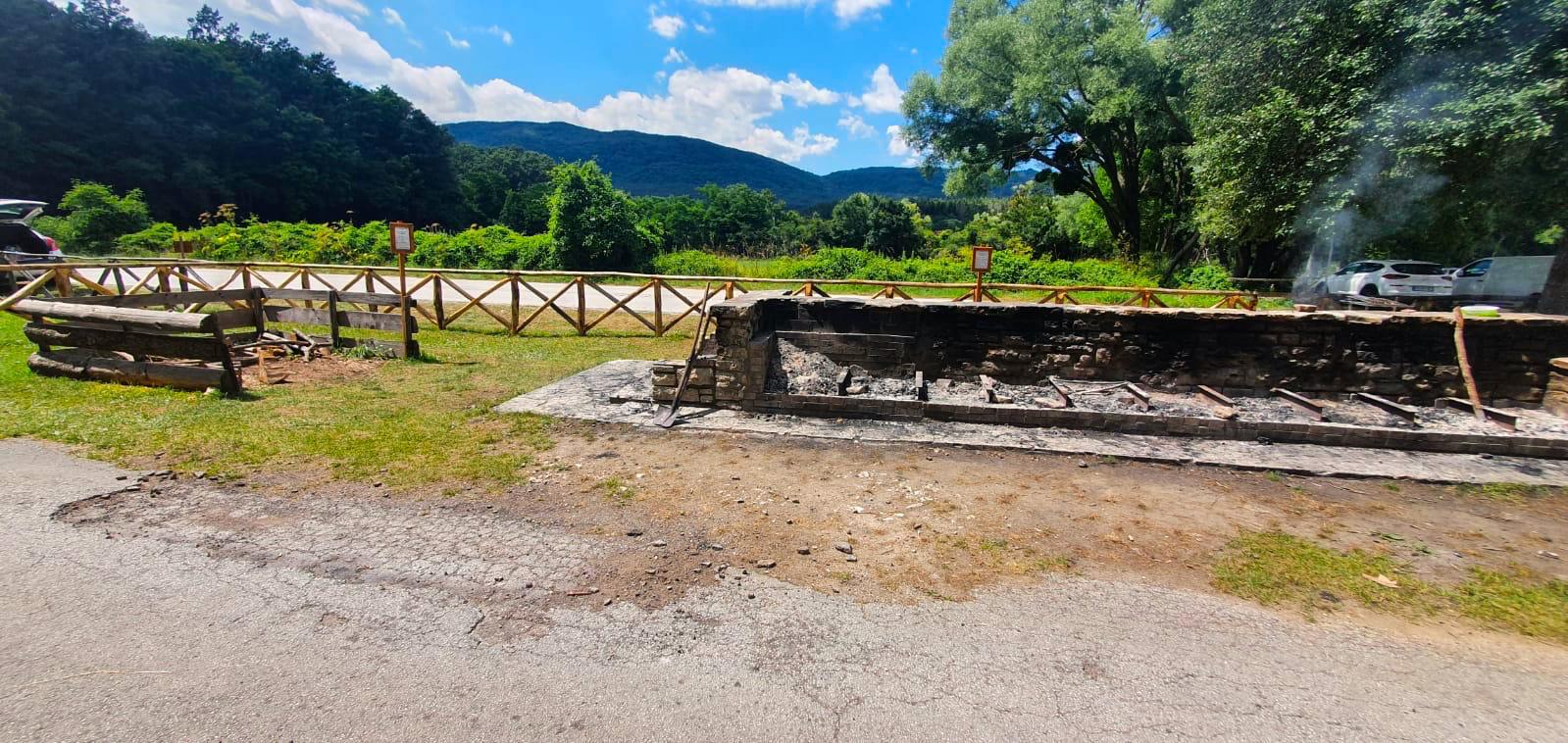 Barbecue Montedimezzo Area picnic Alto Molise